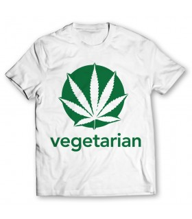 vegetarian printed graphic t-shirt