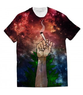 just smoke weed all over printed t-shirt