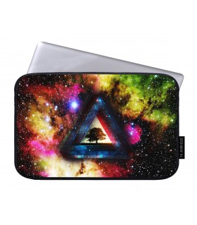 High cosmos printed laptop sleeves