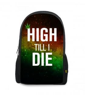 high till i die printed backpacks