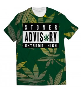 extreme high all over printed t-shirt