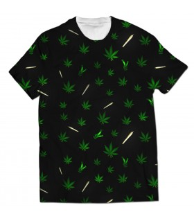 weed joint all over printed t-shirt