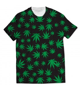 weeds all over printed t-shirt