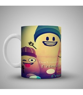the number of friends printed mug