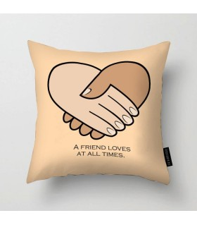 a friend loves printed pillow
