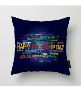 friends typography printed pillow