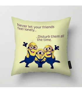 never let your friends printed pillow