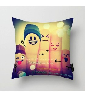 the number of friend printed pillow