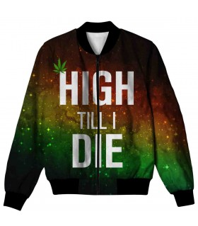 HIGH TILL I DIE ALL OVER PRINTED JACKET