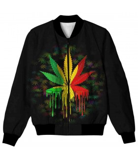 WEED ALL OVER PRINTED JACKET
