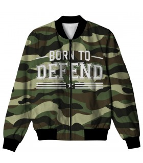 BORN TO DEFEND ALL OVER PRINTED JACKET