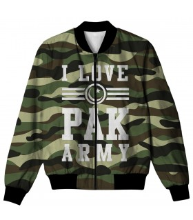 I LOVE PAK ARMY ALL OVER PRINTED JACKET