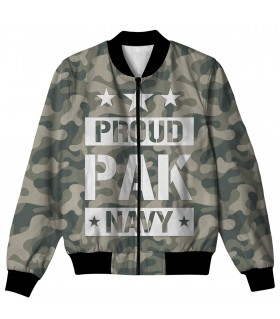 PROUD PAK NAVY ALL OVER PRINTED JACKET