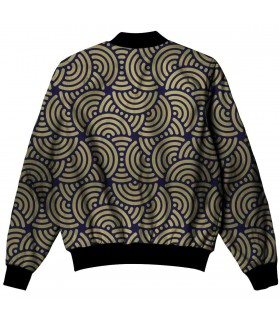 Abstract pattern all over printed jacket