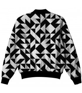 Abstract shape all over printed jacket