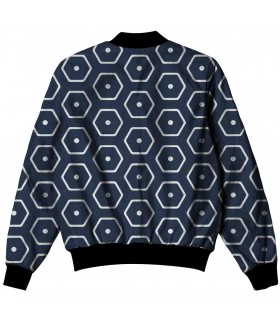 blue hexagon ALL OVER PRINTED JACKET