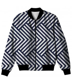 blue zic zac ALL OVER PRINTED JACKET