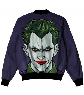 comic joker all over printed jacket