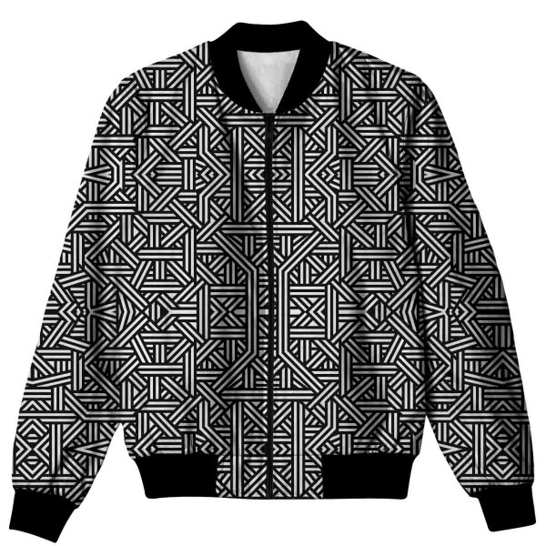 Geometric Pattern All Over Printed Jacket