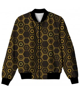 hexagon ALL OVER PRINTED JACKET