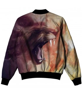 lion all over printed jacket