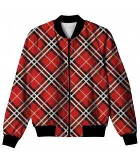 red check ALL OVER PRINTED JACKET