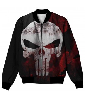 skull all over printed jacket