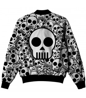 white skull all over printed jacket