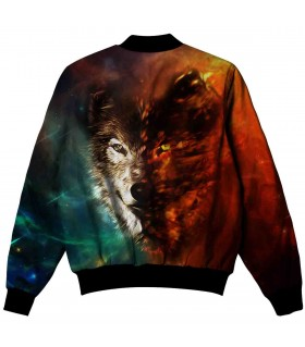 WOLF all over printed jacket