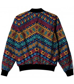 colorful ethnic pattern all over printed jacket