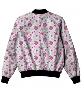 pink floral pattern all over printed jacket