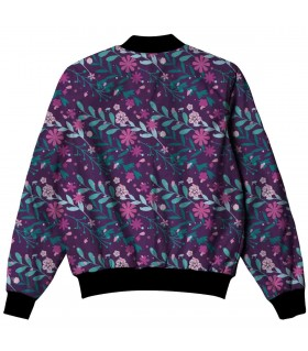purple ethnic all over printed jacket