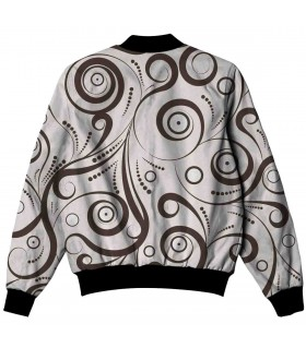 swirl pattern all over printed jacket