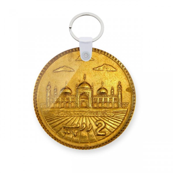 2rs Coin Art Printed Keychain