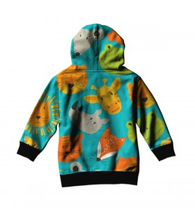 animals face pattern kids hoodie