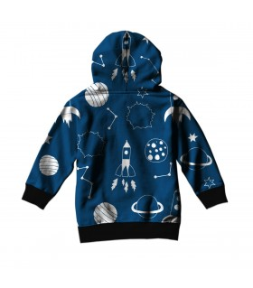 animated space kids hoodie