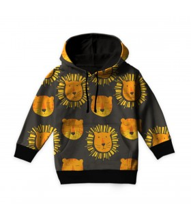 lion face kids hoodie