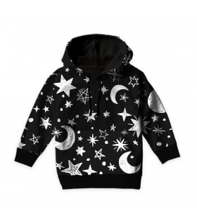 moons and stars art kids hoodie