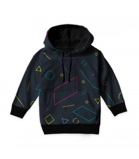 mix shapes kids hoodie