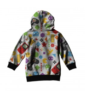 video games art kids hoodie