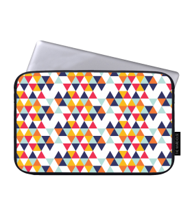 colorfull triangle pattern art printed laptop sleeve