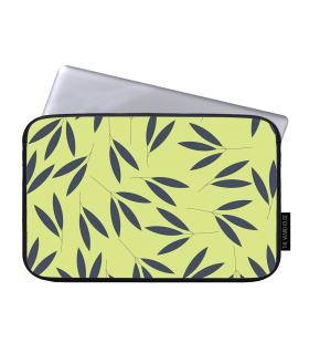 leaf design art printed laptop sleeve