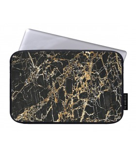 black and gold marble art printed laptop sleeves