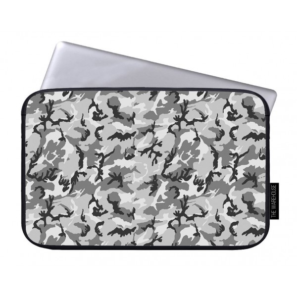 Camouflage Gray Art Printed Laptop Sleeves