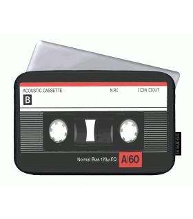 cassette tape art printed laptop sleeves