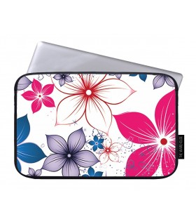 flower art printed laptop sleeves.