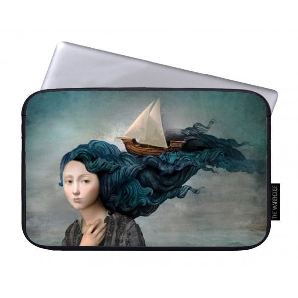 Girl Hair Art Printed Laptop Sleeves