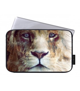 loin art printed laptop sleeves