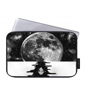 moon art printed laptop sleeves