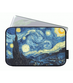 night moon printed laptop sleeve